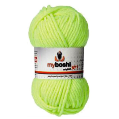 Neon Yellow 185 - Wool Balls 50g For DMC Myboshi Beanie Hats